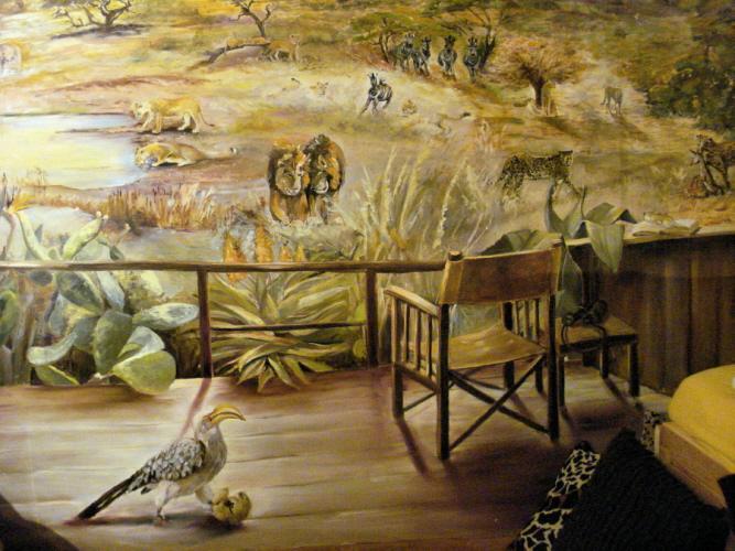 Gro es afrika wandbild arte - Gemalte wandbilder ...
