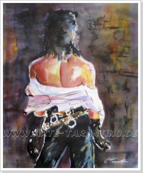 Michael on stage - Aquarell